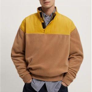 Zara color block fleece sweatshirt